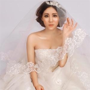 Image 3 - 5 meters Veil  Wholesale Simple Tulle Applique Wedding Veils Bridal Accesories White Wedding Veils Wedding ACCESSORIES OV30225