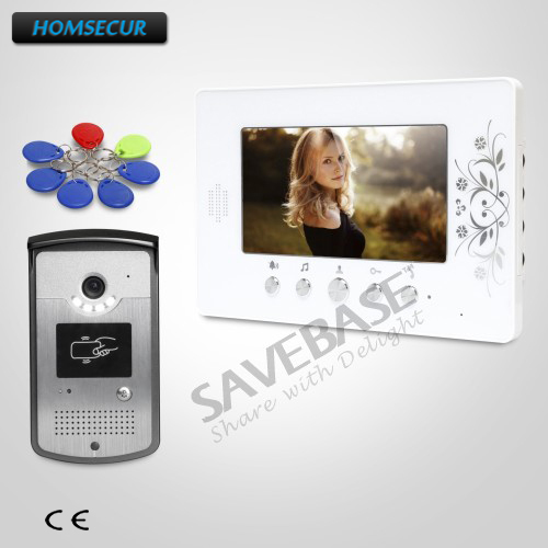 HOMSECUR Ship from RU 7inch Wired Video Door Intercom System with IR Night Vision for Home Security