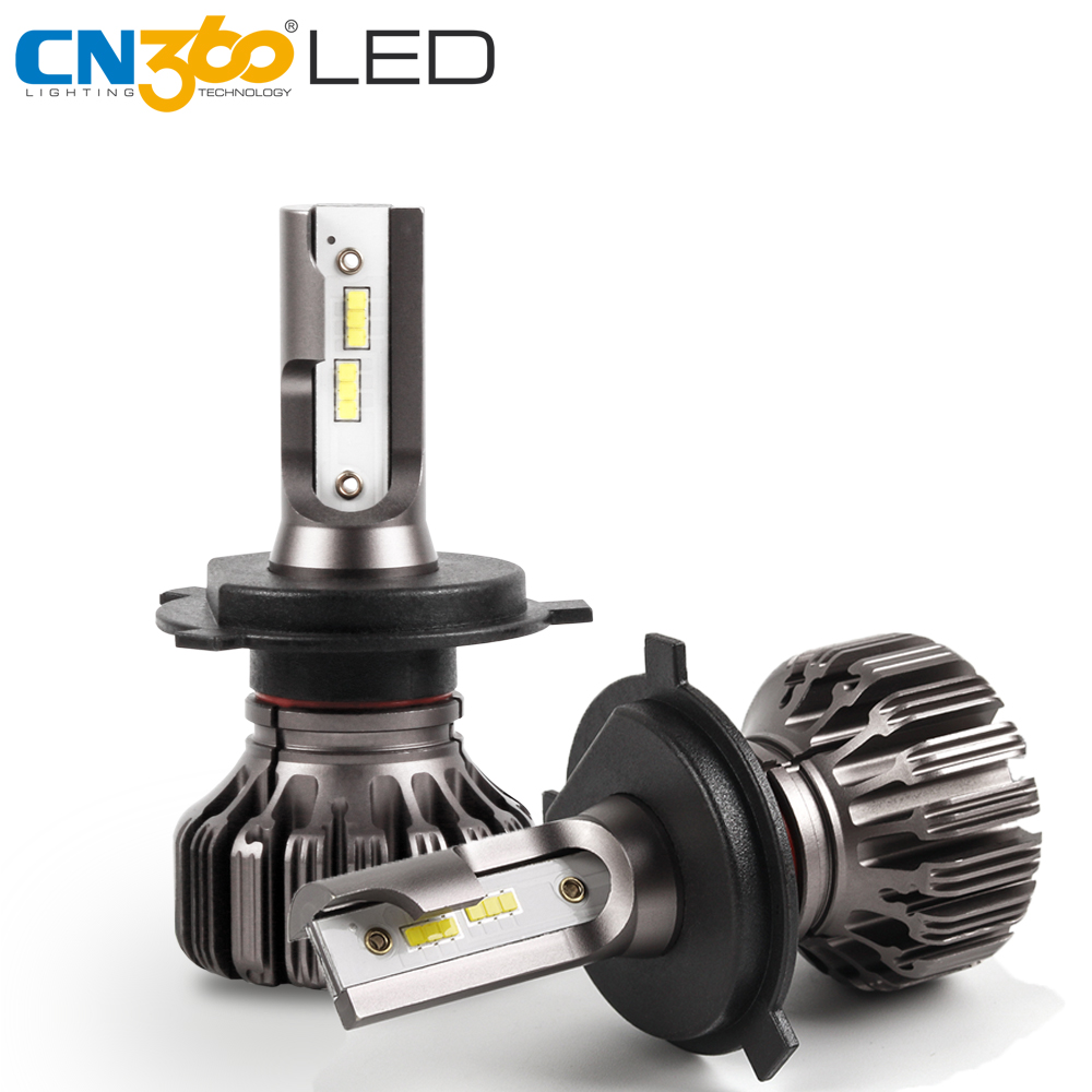CN360 2PCS H4 H7 H11 Led Headlight 9005/HB3 9006/HB4 Car Headlamp Auto  Conversion Kit Light Bulbs DC 12V 4000LM 6500K White