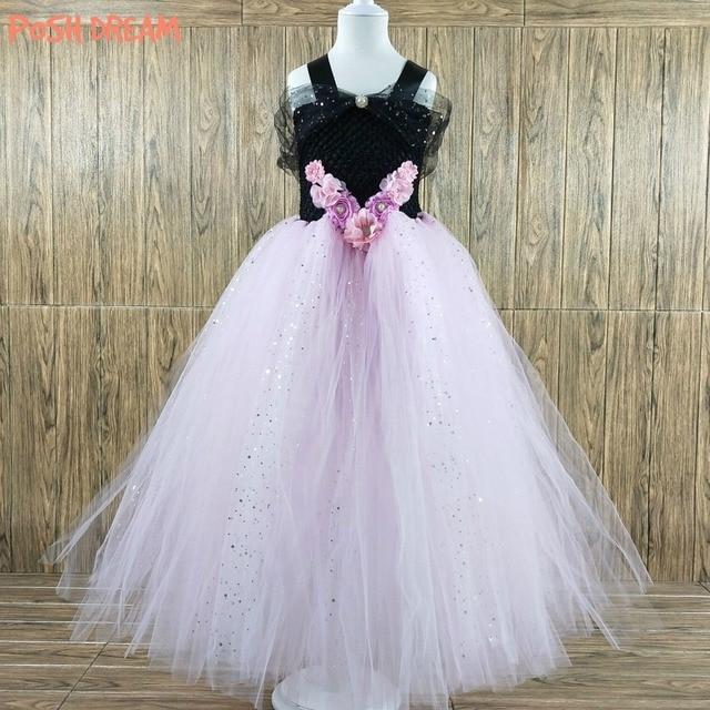 POSH DREAM Black Pink Flower Children Party Wedding Dresses Shining ...