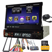 1din Car dvd Radio In dash Autoradio Bluetooth FM AM Receiver for MP3, WMA, AVI, MP4 + RGB Bluetooth hands-free Auxiliary input