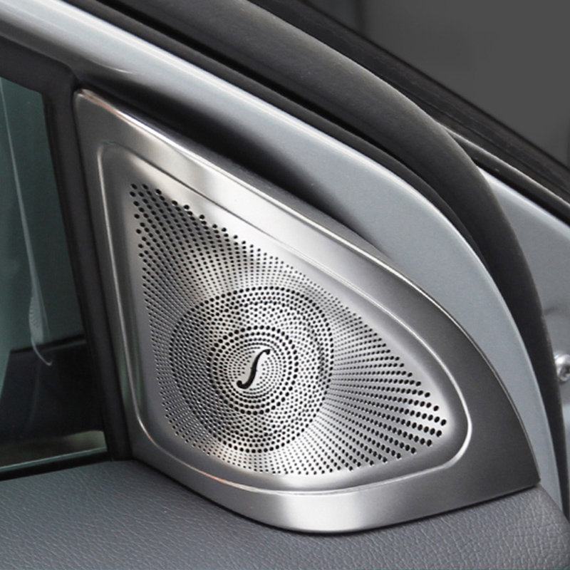 Car styling Door Stereo Speaker Tweeter covers stickers trim For Mercedes Benz A B GLA CLA Class W176 X156 C117 Auto Accessories