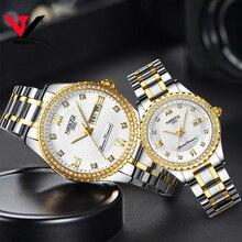 NIBOSI יוניסקס מאהב של שעונים למעלה מותג יוקרה גברים שעון ושעוני נשים עמיד למים קוורץ שעוני יד ליידי שעון קריסטל