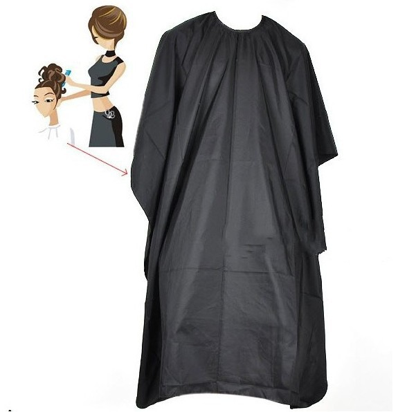 Handmade Black Salon Hairdressing Hairdresser Hair Cut Cutting Gown Barber Cape Cloth Factory Price Wholesale(China)