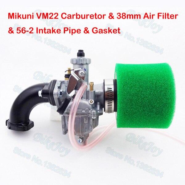 Mikuni VM22 Carb 26mm Carburetor 38mm Air Filter Green Intake Pipe For 125cc 140cc CRF50 Pit