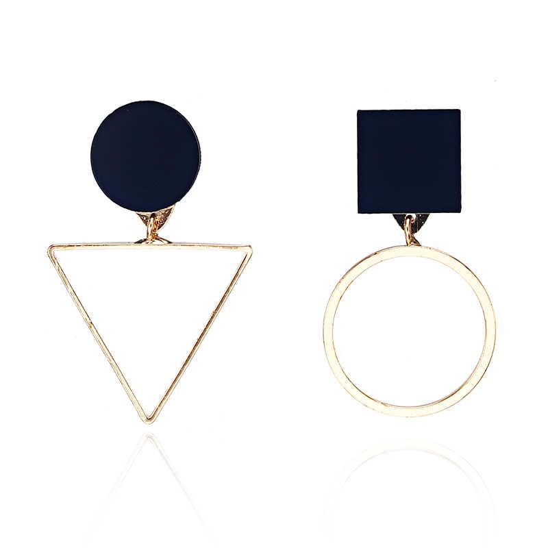 Nuevos pendientes geométricos de moda para mujeres diseño de triángulo redondo elegantes pendientes para regalo de cumpleaños de boda Brincos