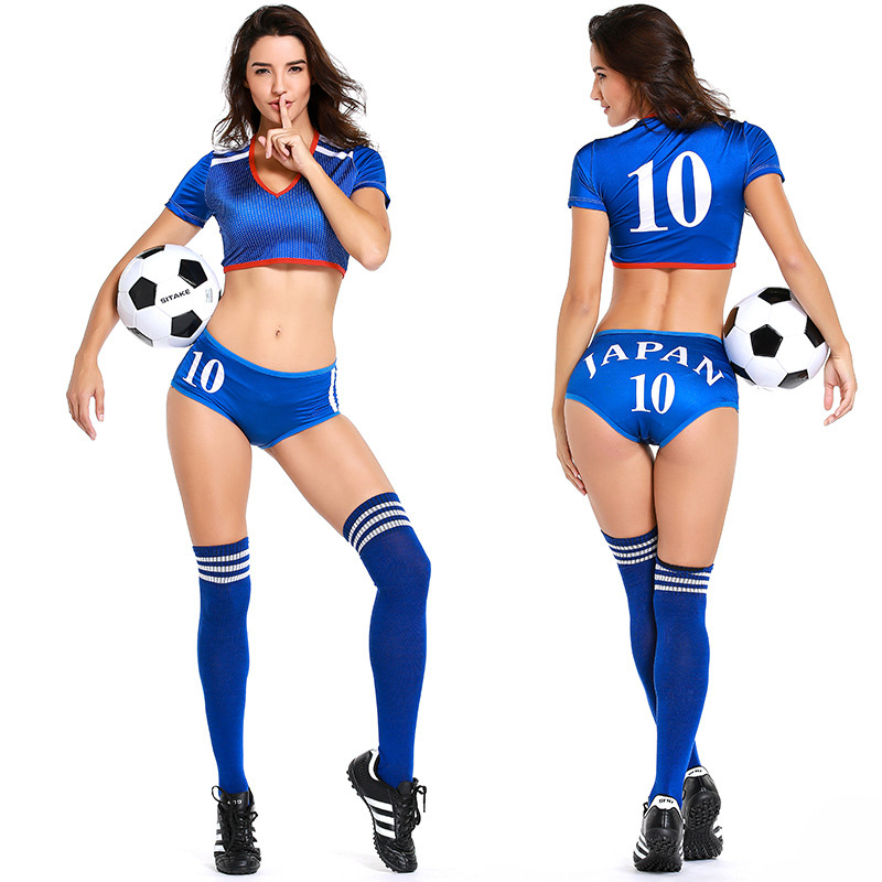 Us 3 59 40 Off Sexy Japan Brazil Russia Portugal Spain Football Game Cheerleader Costume 2018 Football Game Cheer Outfit Uniform In Sexy Costumes