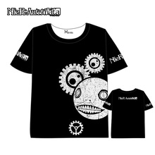 Anime  NieR:Automata 2B T-shirt Men Women Short Sleeve Summer dress Cartoon t shirt