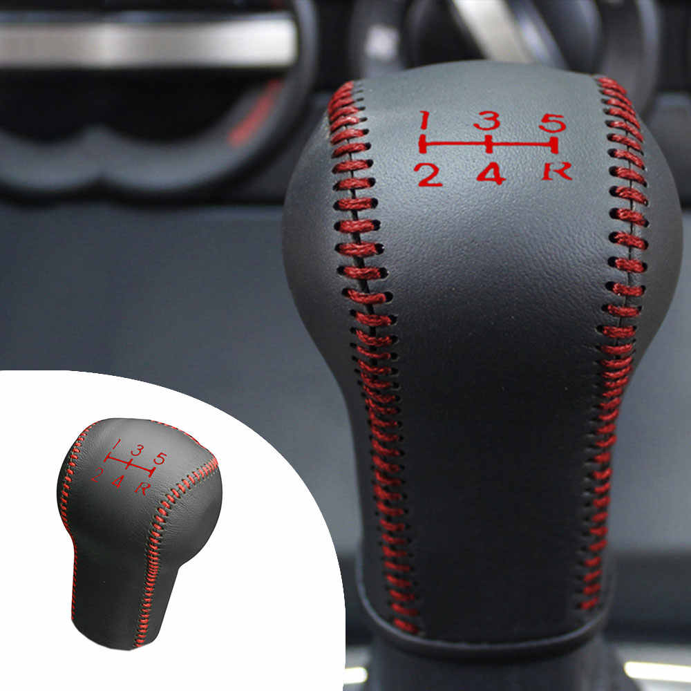 Car Gear Cover PU Leather For Nissan LIVINA 2007-2018 Tiida 2005-2010 Qashqai 2008-2012 MARCH 2010-2015 SYLPHY Gear Shift Knob
