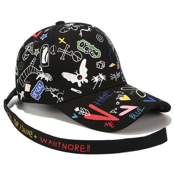 Gorra de béisbol Unisex Graffiti carta cinta plana sombrero de béisbol  g-dragon Hip Hop Snapback hombres mujeres tapas ocasionales del algodón  CP0111 aed3eec523c