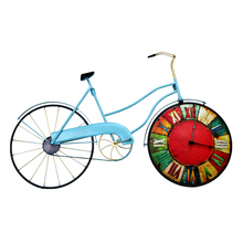 American Retro Bedroom Wall Clock Bicycle Personality Decorative Clock On The Wall Mural Decorations Home Decoration