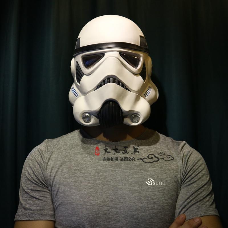 Caoutchouc Star Wars la série noire impérial Stormtrooper casque blanc soldat Cosplay casque Costume