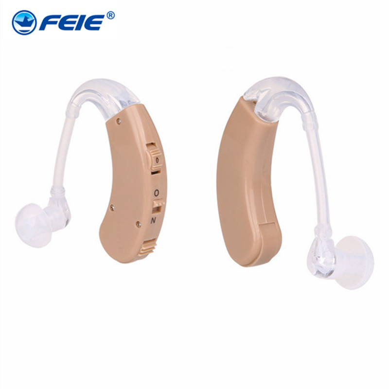 One Pair Earphone Deafness Headset Amplifier Hearing Aids with High Quality Sound Tube Behind Ear Sound Enhancement S-998 2018 hearing aid mini sound amplifier volume controled ear care earphone hearing aids tinny deafness machine s 9a