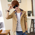 Men jacket men's coat fashion clothes spring overcoat outwear spring winter new Turn-down collar brand