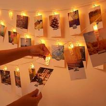 Garland Card Photo Clip String Lights 2m 5m Led Fairy Light Xmas batte