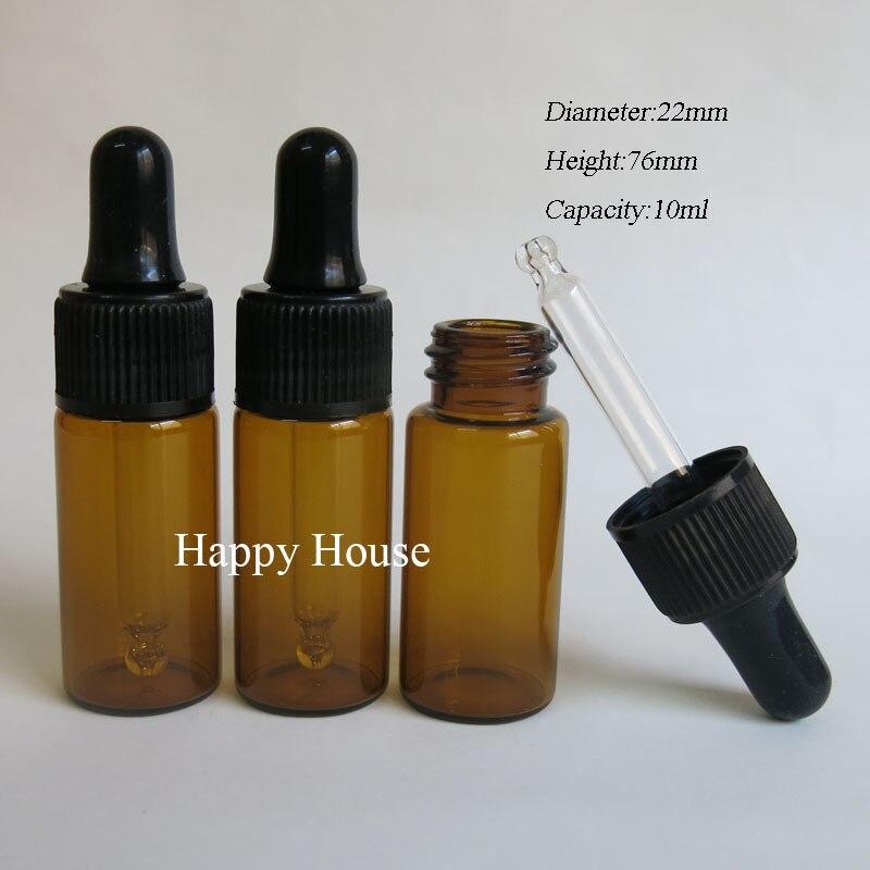 24 X 10ml Empty Mini Amber Glass Dropper Bottle 10cc