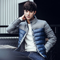 2016 autumn/winter long badge hooded brand men cotton-padded jacket youth daily warm leisure cotton-padded clothes