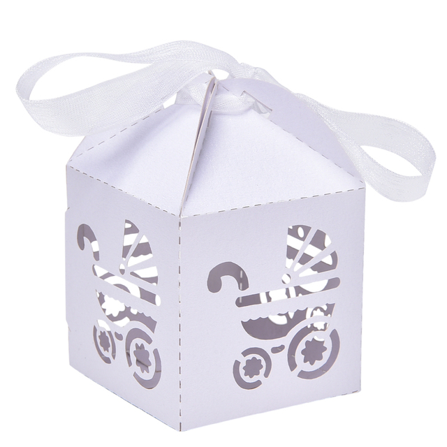 10 Pcs Baby Stroler Candy Boxes