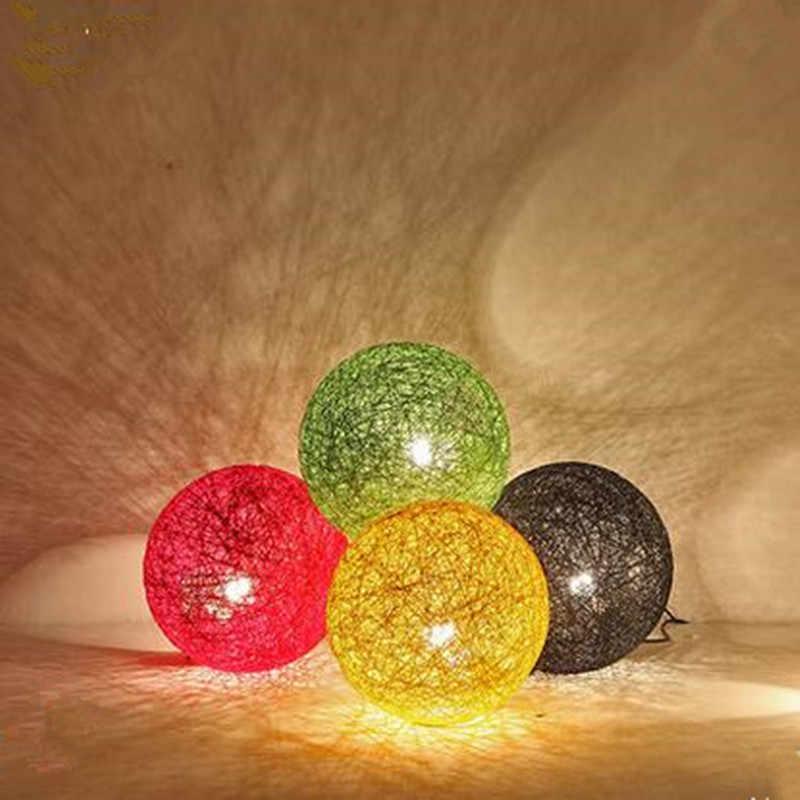 الحديثة قلادة ضوء مصباح داخلي 20 سنتيمتر الكرة القنب الملونة غرفة الجلوس مطعم مقهى متجر زخارف للحانات تركيب المصابيح