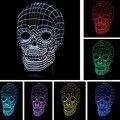 LED Luz de la Decoración de Navidad Luces de La Noche 3D Skull Touch Led sala de estar/dormitorio mesa/Lámpara de escritorio Para Niños Juguete de La Novedad regalo Presente