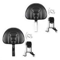 Areyourshop 1PC Black/Chrome Plug In Driver Backrest + Mounting Kit For Indian Chief Chieftain 2014 2018 Styling Motorcycle Part