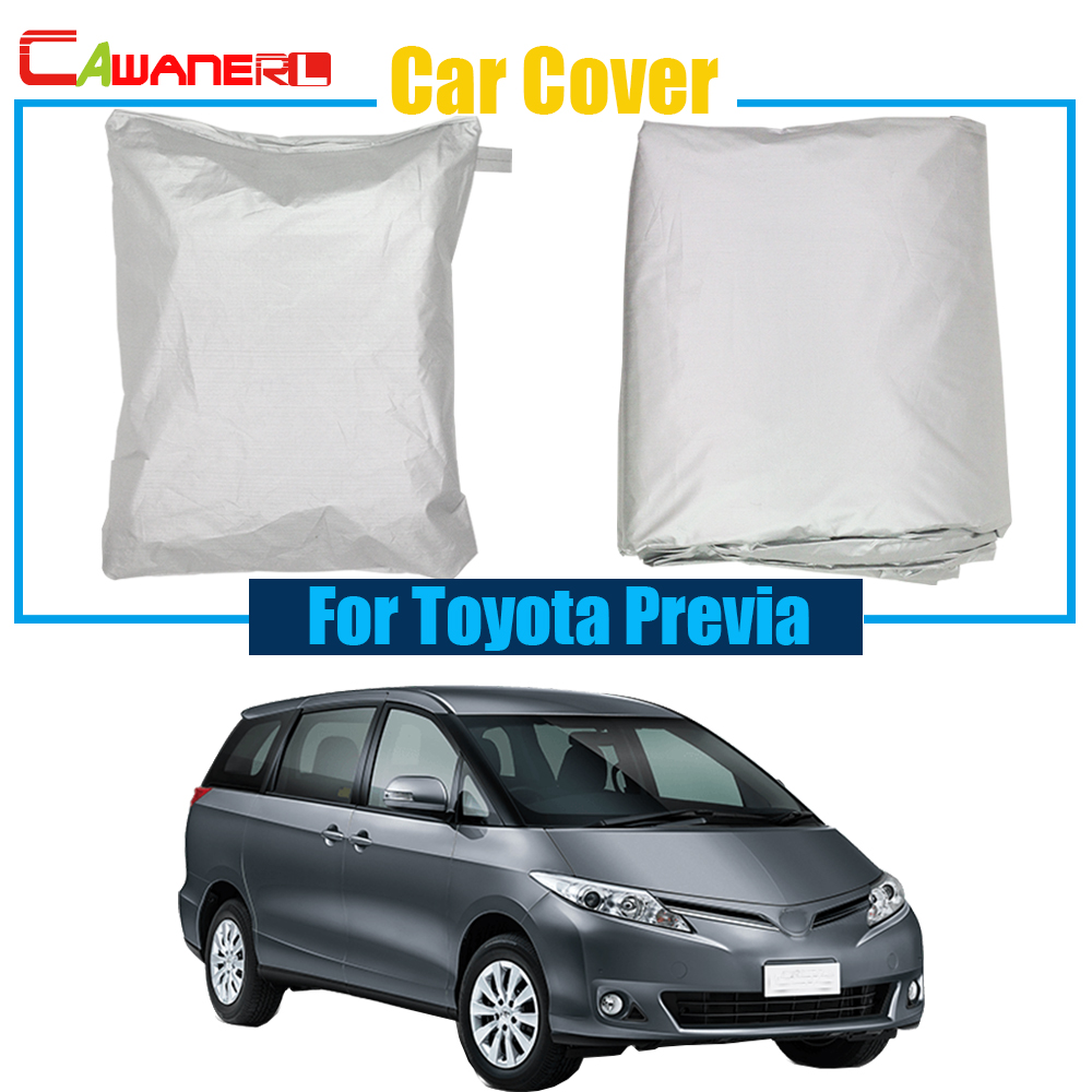 Cawanerl Full Car Cover Anti UV Rain Snow Sun Resistant Protector Cover For Toyota Previa Free