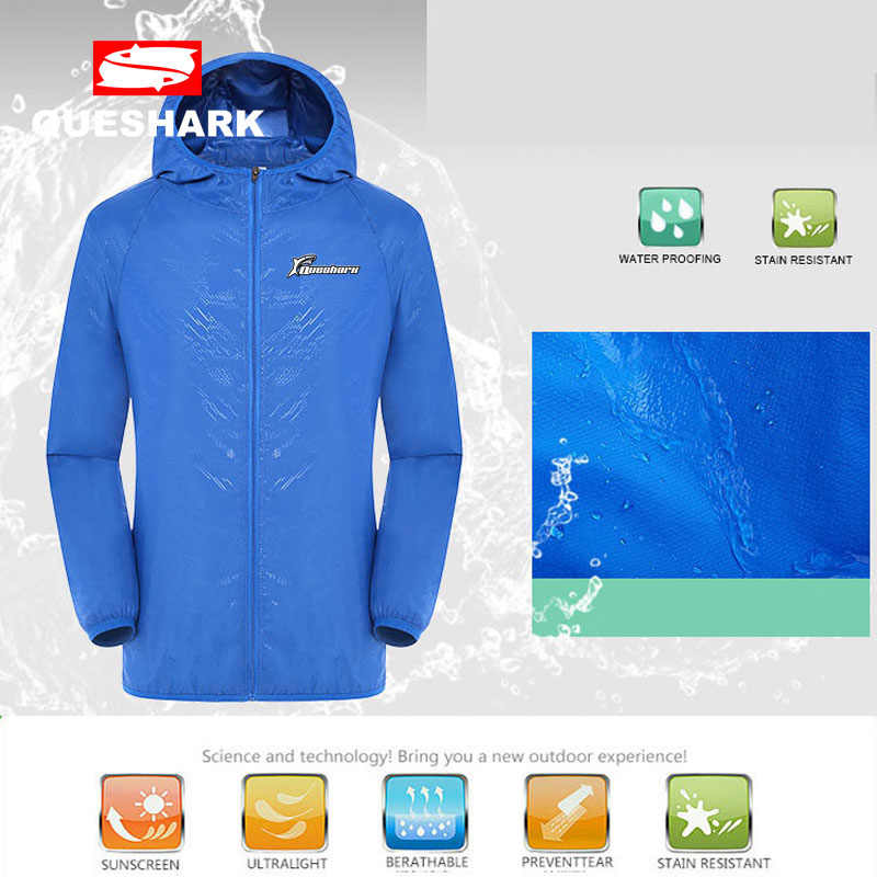 9b744c061 Queshark Outdoor Sports Men Women Quick Dry Skin Cycling Jackets Anti-UV Waterproof  Windproof Jersey