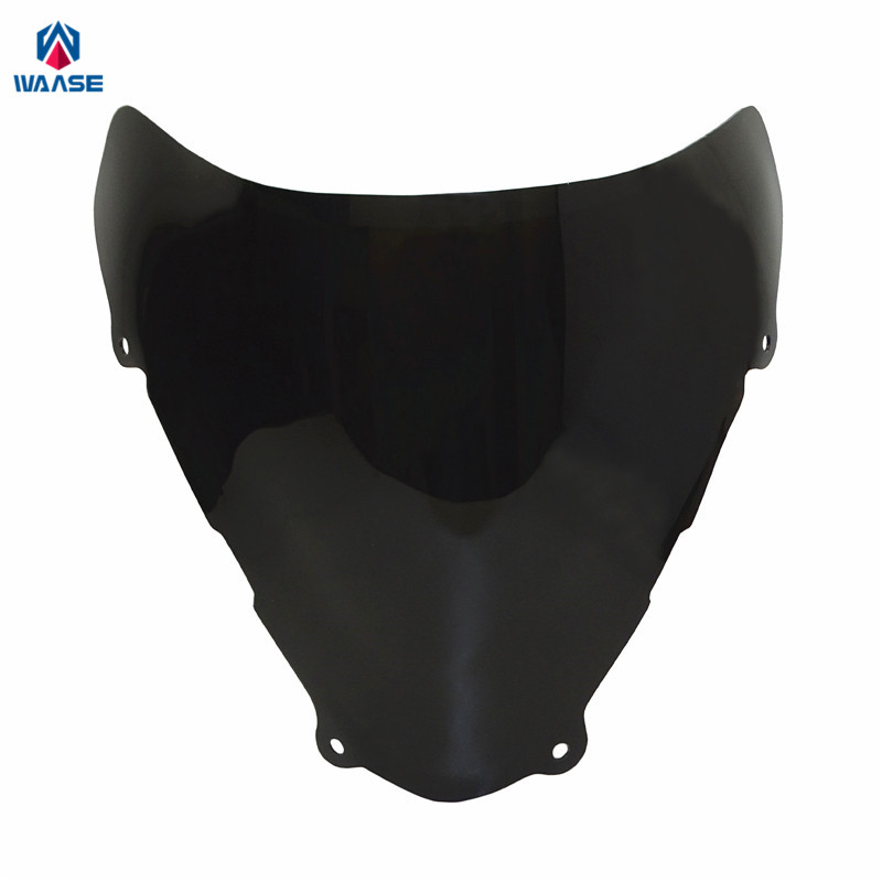 waase For <font><b>Suzuki</b></font> <font><b>SV650</b></font> SV650S SV 650 650S 1999 2000 2001 2002 Double Bubble Windscreen <font><b>Windshield</b></font> Shield Screen image