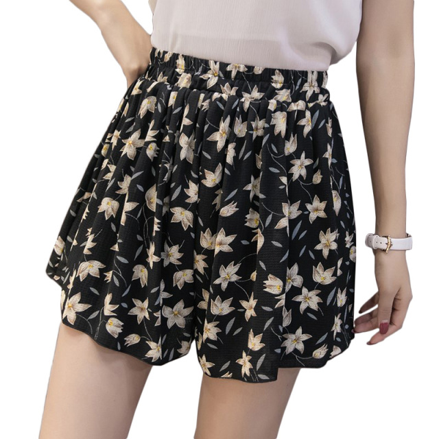 Floral Casual Loose Shorts for Women