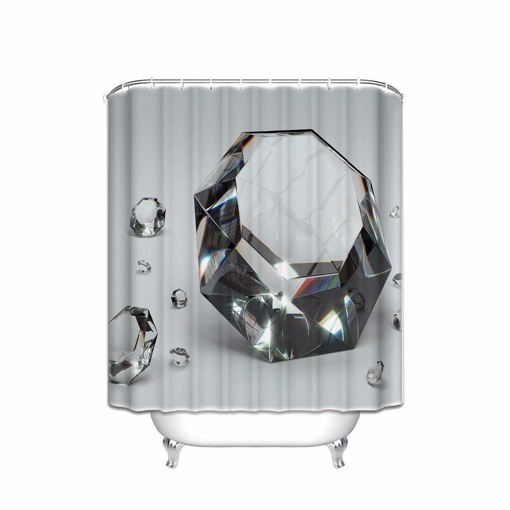 New Glamorous Diamond 3D Bathroom Shower Curtain Set,merry Me,wedding Gift  Party Shower