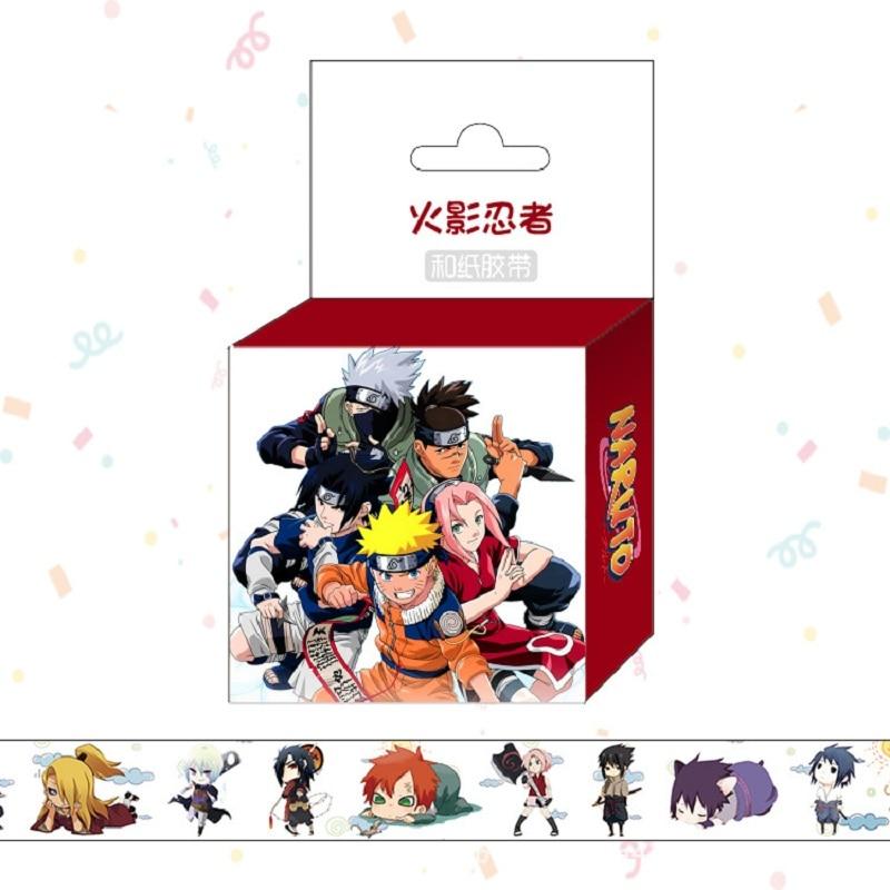 1.5cm*5m Anime Naruto Cartoon Washi Tape Adhesive Tape DIY Scrapbooking Sticker Label Masking Tape Клейкая лента