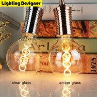 G95 اديسون خيوط لمبة led e27 مزدوجة اللولب خمر ريترو إنقاذ مصباح ضوء تركيبات الإضاءة الفن الثريا 220 فولت 4 واط