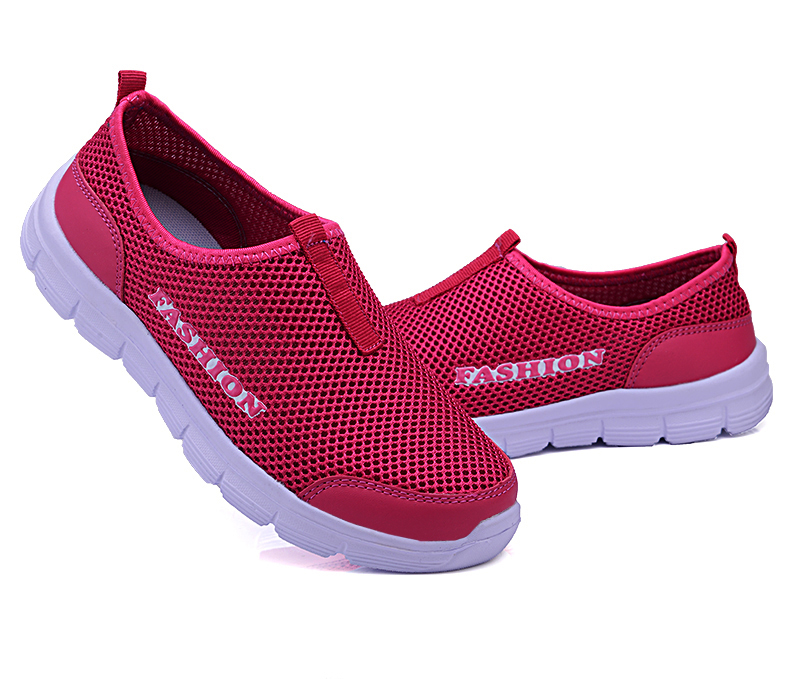Summer New Women Sandals Air Mesh Women Casual Shoes Lightweight Breathable Water Slip-on Shoes Women Sneakers Sandalias Mujer