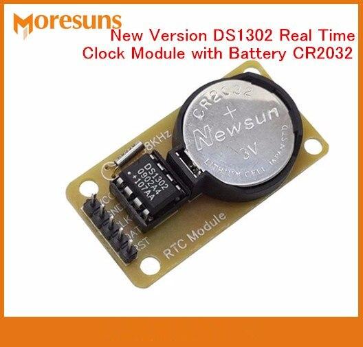 Быстрая Бесплатная Доставка 2 шт. Новый DS1302 часы реального времени модуль с Батарея CR2032 отключения питания Время в пути для Arduino RTC модуль