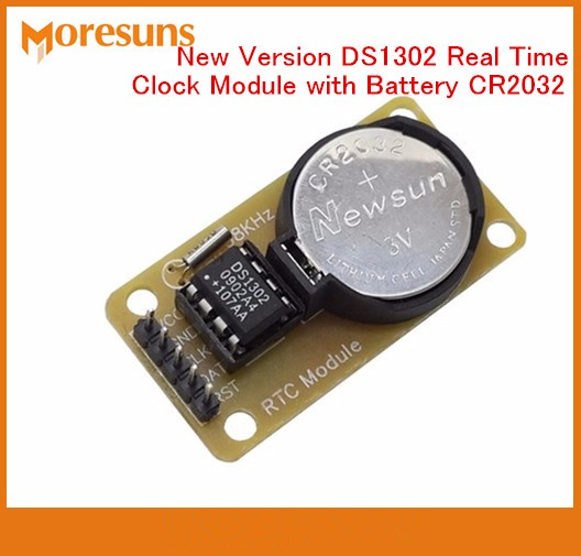 Fast Free Ship 2PCS New DS1302 Real Time Clock Module with Battery CR2032 power-down travel time for arduino RTC Module