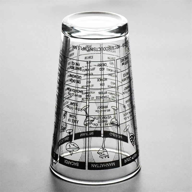 Upspirit 500 ml Rezept Mischen Schütteln Tasse mit Messung Bar KTV Bartending Glas Shaker Getränke Martini Schnaps Wein Zubehör