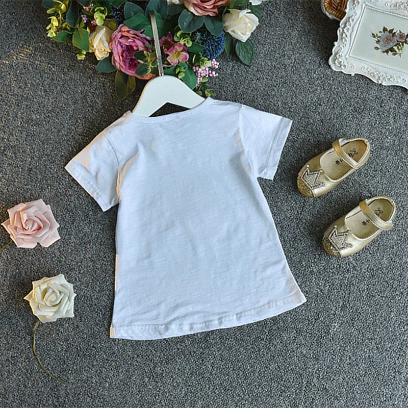 2018 casualowe zestawy ubrań dla dzieci kwiatek z krótkim rękawem - Ubrania dziecięce - Zdjęcie 4