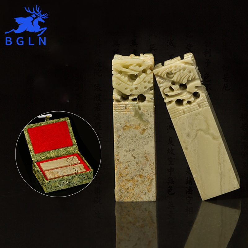 Bgln pcs set stone handmade carving sculpture seal