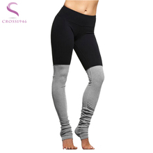 Patchwork Fitness Yoga Sports Leggings For Women Sexy Elastic Tight Mesh Leggings Yoga Pants Spring Winter  Running Pants Tight