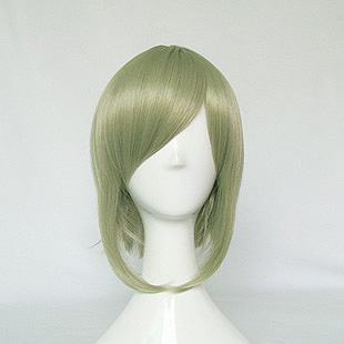 30cm tea green vocaloid gumi short shaggy layered cosplay anime wig,free shipping 100g jasmine flower green tea green tea with jasmine buds secret gift free shipping