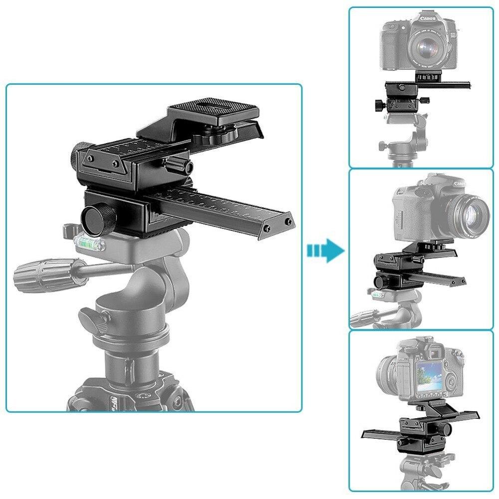 Neewer 4 Way Macro Focalização Foco Rail Slider/Slider Close-up Tiro para Canonand Outra Câmera Digital SLR e DC