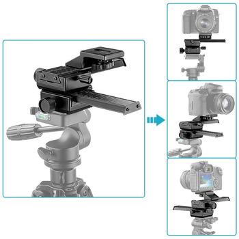 Neewer 4 sposób makro skupiając ostrości szyna suwak fotografowania w zbliżeniu do Canon Nikon itp lustrzanka aparat fotograficzny + DC ze standardowym 1 4 #8222 otwór na śrubę tanie i dobre opinie Aluminium 10033981
