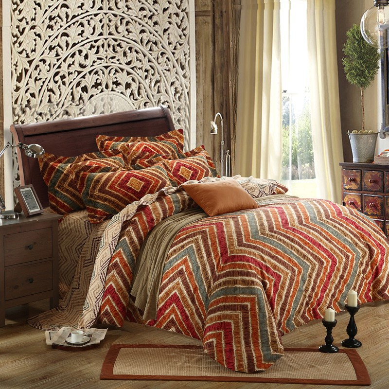 Ms O Home Textile Duvet Cover Classic Damask Ethnic Plaid Luxury Europe Printed Classic Designer Bedding