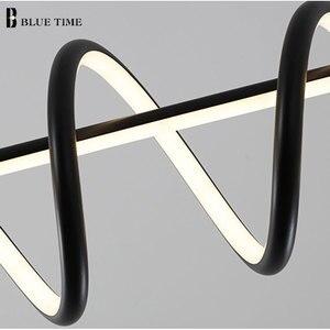 Image 5 - Черно белый современный светодиодный подвесной светильник для гостиной, столовой, кухни, потолочный светильник, светодиодный подвесной светильник для дома