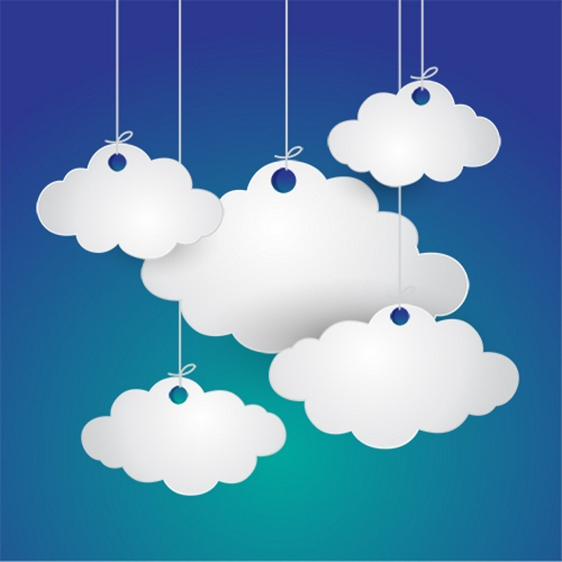 Paper White Cloud Blue Sky Scene Background Vinyl cloth High quality Computer printed wall backdrop