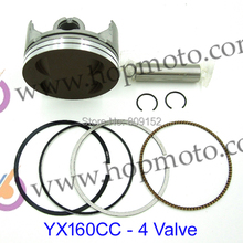 YinXiang 4 клапана YX 160cc поршневой комплект для грязного велосипеда/питбайк