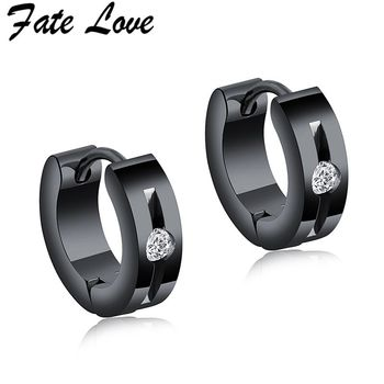 Fate Love Mens Stud Earrings Black Stainless Steel Fashion Jewelry Cubic Zirconia Punk 2019 Men Earings.jpg 350x350 - Fate Love Mens Stud Earrings Black Stainless Steel Fashion Jewelry Cubic Zirconia Punk 2019 Men Earings Jewellery Aretes Brincos
