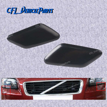 Pair Front Left+Right Bumper Headlight Washer Nozzle Cover Unpainted 39863927 39863944 For Volvo C30 2011 2012 2013