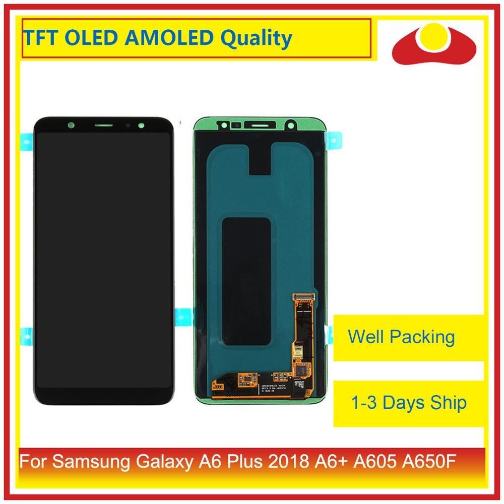 Image 2 - Оригинал для samsung Galaxy A6 Plus 2018 A605 A6 + ЖК дисплей с сенсорным экраном дигитайзер панель монитор в сборе-in ЖК-экраны для мобильного телефона from Мобильные телефоны и телекоммуникации