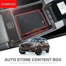Zunduo автомобиля подлокотник ящик для хранения для Volvo XC60 S60 V60 Средства ухода для автомобиля Красный ABS + ПВХ красный